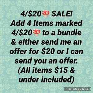 4/$20🍄 SALE ON NOW!!